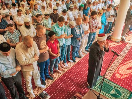 Ураза-байрам в Киевской мечети Ар-Рахма