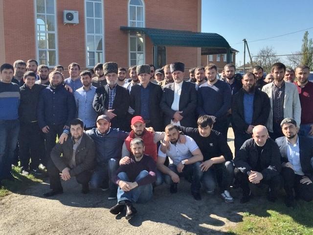 Встреча мусульман в ауле Вочепший