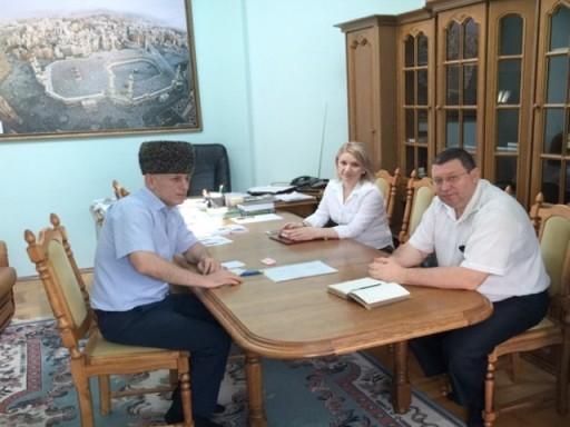 Встреча Муфтия РА и КК с Начальником ОФМС России по Республики Адыгея