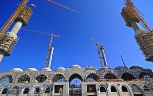 Вид на строящуюся мечеть Чамлыджа