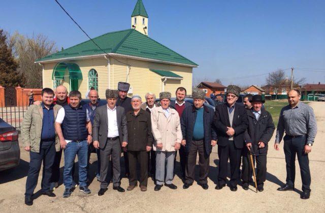 Встреча представителей ДУМ РА и Кк с жителями аулов Афипсип и Хаштук