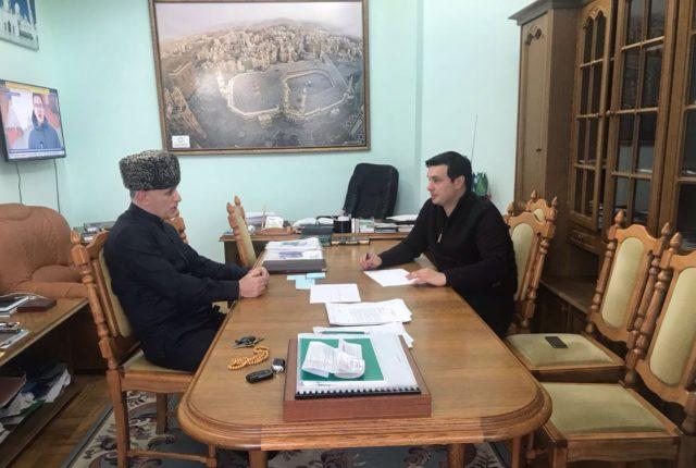 Муфтий Карданов Аскарбий провел рабочую встречу с Волковым Русланом
