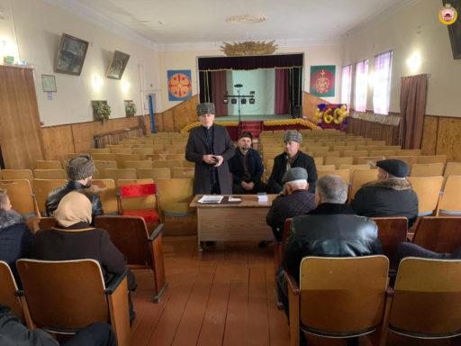 Встреча с жителями аула Адамий