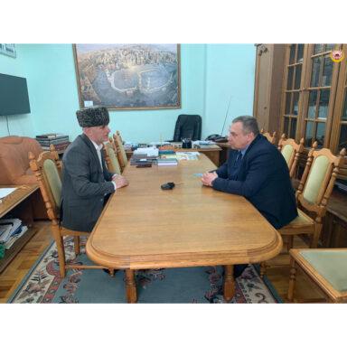 Муфтий А.Х. Карданов встретился с министром МВД по РА И.А. Бахиловым